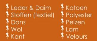 Type stoffen en materialen