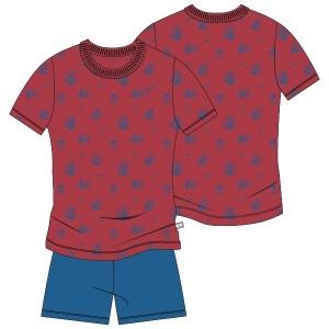 14dcd30f0dc Woody - Jongensshorty, rood/blauw